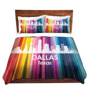 Artistic Duvet Covers and Shams Bedding | Angelina Vick - City II Dallas Texas