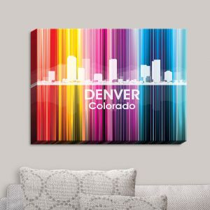 Decorative Canvas Wall Art | Angelina Vick - City II Denver Colorado