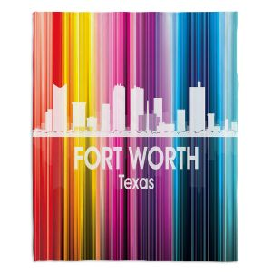 Decorative Fleece Throw Blankets | Angelina Vick - City II Fort Worth Texas