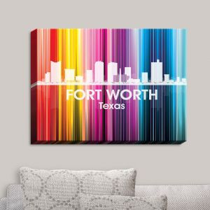 Decorative Canvas Wall Art | Angelina Vick - City II Fort Worth Texas