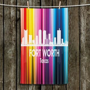 Unique Hanging Tea Towels | Angelina Vick - City II Fort Worth Texas | Skyline Downtown