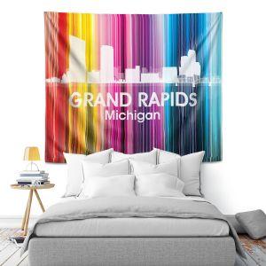 Artistic Wall Tapestry | Angelina Vick City II Grand Rapids Michigan