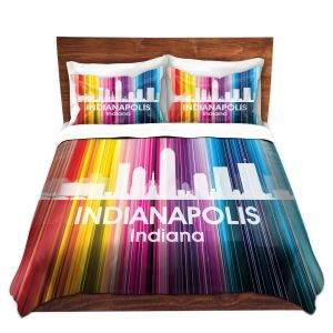 Artistic Duvet Covers and Shams Bedding   Angelina Vick - City II Indianapolis Indiana