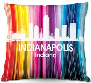 Throw Pillows Decorative Artistic | Angelina Vick's City II Indianapolis IN
