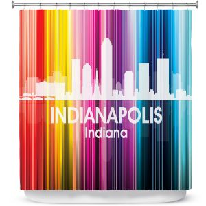 Premium Shower Curtains | Angelina Vick City II Indianapolis Indiana
