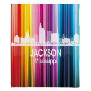 Decorative Fleece Throw Blankets | Angelina Vick - City II Jackson Mississippi