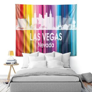 Artistic Wall Tapestry | Angelina Vick City II Las Vegas Nevada