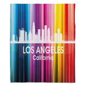 Decorative Fleece Throw Blankets | Angelina Vick - City II Los Angeles California
