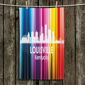 Unique Hanging Tea Towels | Angelina Vick - City II Louisville Kentucky | Skyline Downtown