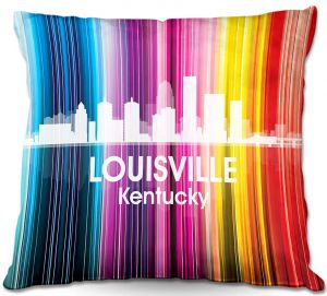 Throw Pillows Decorative Artistic | Angelina Vick's City II Louisville KY