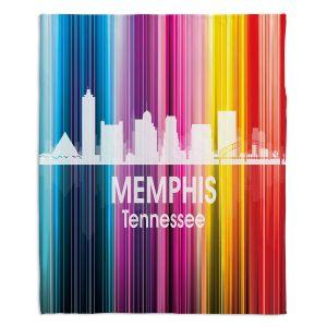 Decorative Fleece Throw Blankets | Angelina Vick - City II Memphis Tennessee