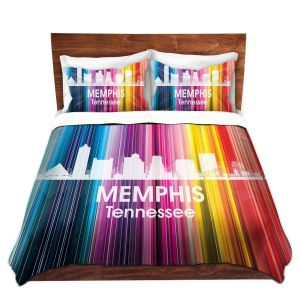 Artistic Duvet Covers and Shams Bedding | Angelina Vick - City II Memphis Tennessee