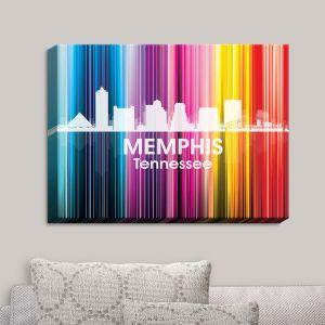 Decorative Canvas Wall Art   Angelina Vick - City II Memphis Tennessee