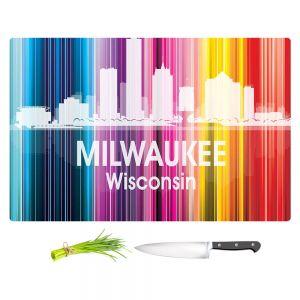 Artistic Kitchen Bar Cutting Boards | Angelina Vick - City II Milwaukee Wisconsin