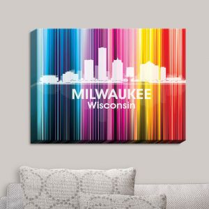 Decorative Canvas Wall Art | Angelina Vick - City II Milwaukee Wisconsin
