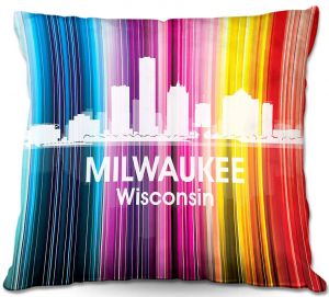 Decorative Outdoor Patio Pillow Cushion | Angelina Vick - City II Milwaukee Wisconsin