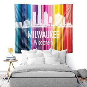 Artistic Wall Tapestry | Angelina Vick City II Milwaukee Wisconsin