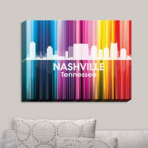 Decorative Canvas Wall Art   Angelina Vick - City II Nashville Tennessee