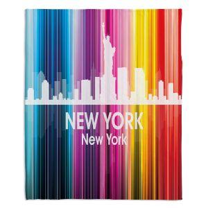 Decorative Fleece Throw Blankets | Angelina Vick - City II New York New York