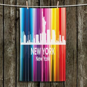 Unique Hanging Tea Towels | Angelina Vick - City II New York New York | Skyline Downtown
