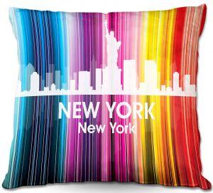 Throw Pillows Decorative Artistic   Angelina Vick's City II New York NY