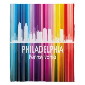Decorative Fleece Throw Blankets | Angelina Vick - City II Philadelphia Pennsylvania