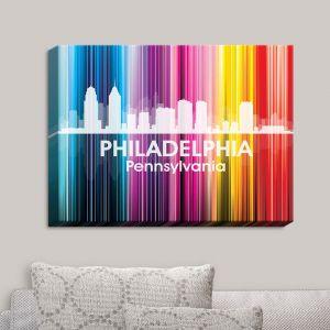 Decorative Canvas Wall Art   Angelina Vick - City II Philadelphia Pennsylvania