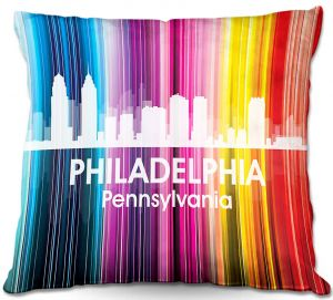 Throw Pillows Decorative Artistic   Angelina Vick's City II Philadelphia PA
