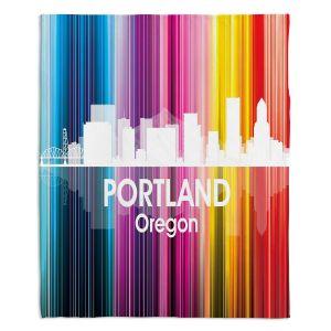 Decorative Fleece Throw Blankets | Angelina Vick - City ll Portland Oregon