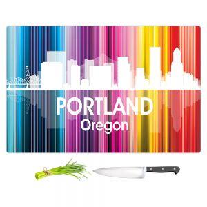 Artistic Kitchen Bar Cutting Boards | Angelina Vick - City ll Portland Oregon