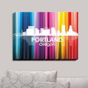 Decorative Canvas Wall Art | Angelina Vick - City II Portland Oregon | Skyline Downtown
