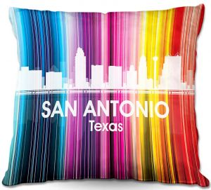 Throw Pillows Decorative Artistic | Angelina Vick's City II San Antonio TX