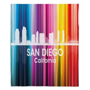 Decorative Fleece Throw Blankets | Angelina Vick - City II San Diego California