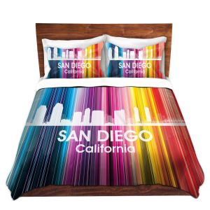 Artistic Duvet Covers and Shams Bedding | Angelina Vick - City II San Diego California