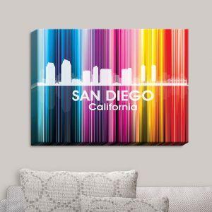 Decorative Canvas Wall Art   Angelina Vick - City II San Diego California