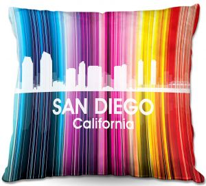 Throw Pillows Decorative Artistic | Angelina Vick's City II San Diego CA