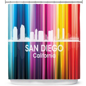 Premium Shower Curtains | Angelina Vick City II San Diego California