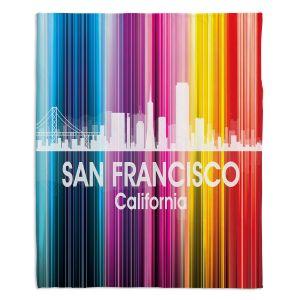 Decorative Fleece Throw Blankets | Angelina Vick - City II San Francisco California