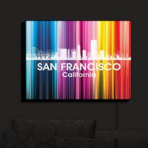 Nightlight Sconce Canvas Light | Angelina Vick - City II San Francisco California