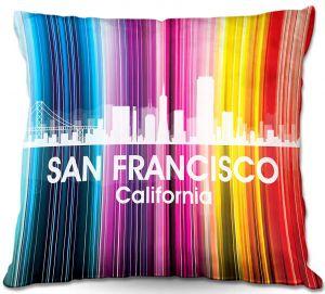 Decorative Outdoor Patio Pillow Cushion | Angelina Vick - City II San Francisco California