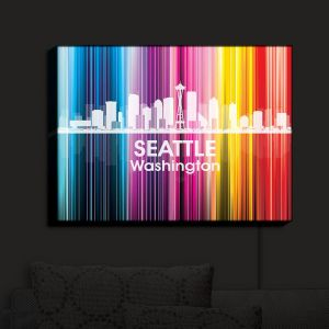 Nightlight Sconce Canvas Light | Angelina Vick - City II Seattle Washington