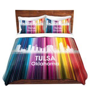 Artistic Duvet Covers and Shams Bedding | Angelina Vick - City II Tulsa Oklahoma