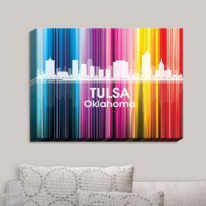 Decorative Canvas Wall Art   Angelina Vick - City II Tulsa Oklahoma
