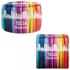 Round and Square Ottoman Foot Stools | Angelina Vick - City II Tulsa Oklahoma