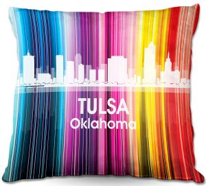 Throw Pillows Decorative Artistic | Angelina Vick's City II Tulsa OK