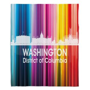 Decorative Fleece Throw Blankets | Angelina Vick - City II Washington DC