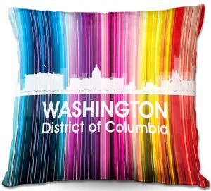 Throw Pillows Decorative Artistic | Angelina Vick's City II Washington DC