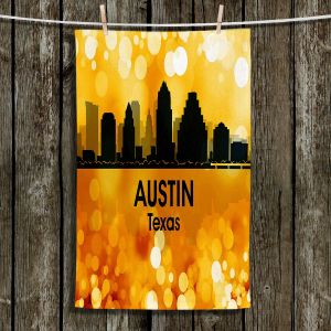 Unique Hanging Tea Towels | Angelina Vick - City lll Austin Texas | Skyline Downtown