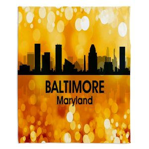 Decorative Fleece Throw Blankets | Angelina Vick - City lll Baltimore Maryland