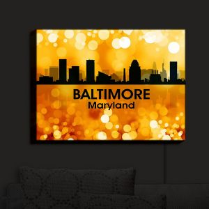 Nightlight Sconce Canvas Light | Angelina Vick - City III Baltimore Maryland | Skyline Downtown